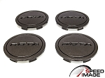 Rota Wheels - Replacement Set of 4 Center Caps - Z - Gunmetal - Fits Circuit 10, G-Force, Torque, Zero Plus