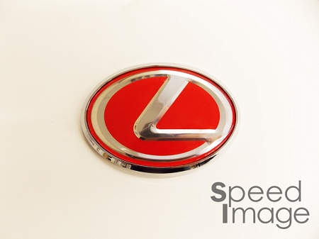 Si Universal Lexus Emblem 10 0cm X 7 0cm Red