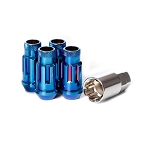 Muteki - SR48 - Extended Open End Lock Set 12x1.25mm - Burned Blue - Set of 4 pieces