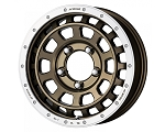 Work Wheels - Crag T-Grabic Wheel - 16x7.0 +38 5x114.3 - Bronze Rim Cut