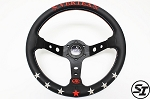 Vertex - 7 Star Steering Wheel - 330mm - Deep Dish - Black
