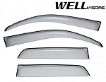 Well Visors - Premium Series - Side Window Visors - Toyota 4 Runner 2003-2009