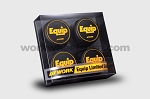 WORK Wheels - Equip 01/03/40 Limited Edition Center Cap Set - Black/Yellow