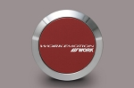 WORK Wheels - Emotion Center Cap (Flat Type) - Red