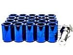 Z Racing - Inner Hex Steel Lug Nuts - 12x1.5mm Thread Pitch - Blue - Set of 20 Lugs + 1 Key