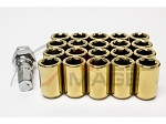 Z Racing - Inner Hex Steel Lug Nuts - 12x1.5mm Thread Pitch - Gold - Set of 20 Lugs + 1 Key