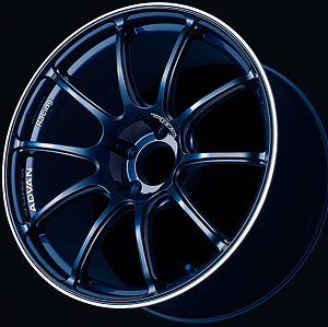 Advan RZII 17x8 +37 / 17x9 +45 5x114.3 Indigo Blue with Ring
