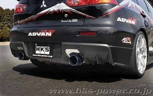 hks - legamax premium - cat-back exhaust system - mitsubishi