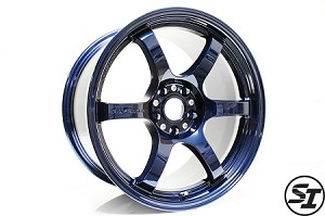 Gram Lights - 57DR - 18x9.5 +38 5x100 - Mag Blue