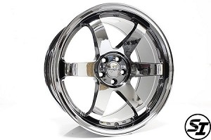 Rota Wheels - Grid - 18x9.5 +38mm 5x114.3 73.1 Hub - Titainum Chrome - Each Wheel