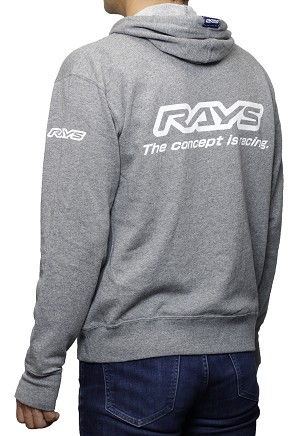 RAYS Wheels - Men's Pull Over Hoodie - Salt & Pepper (Grey)