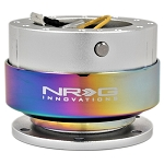 NRG - Steeing Wheel Quick Release Generation 2.0 - Silver Body with Neo Chrome Ring